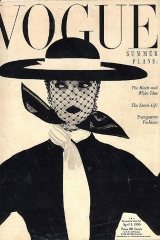 Una de las portadas más famosas de Irving Penn para la revista Vogue con su mujer, la modelo Lisa Fonssagrives, como protagonista